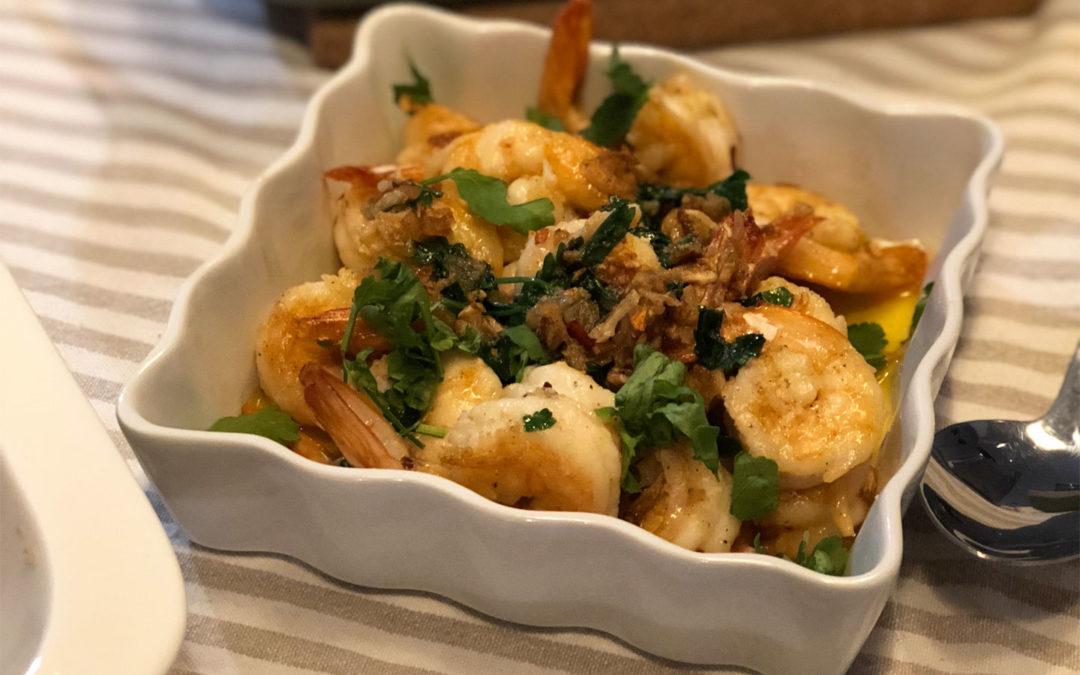 Shrimps Demystified: Fried and garlicky shrimps