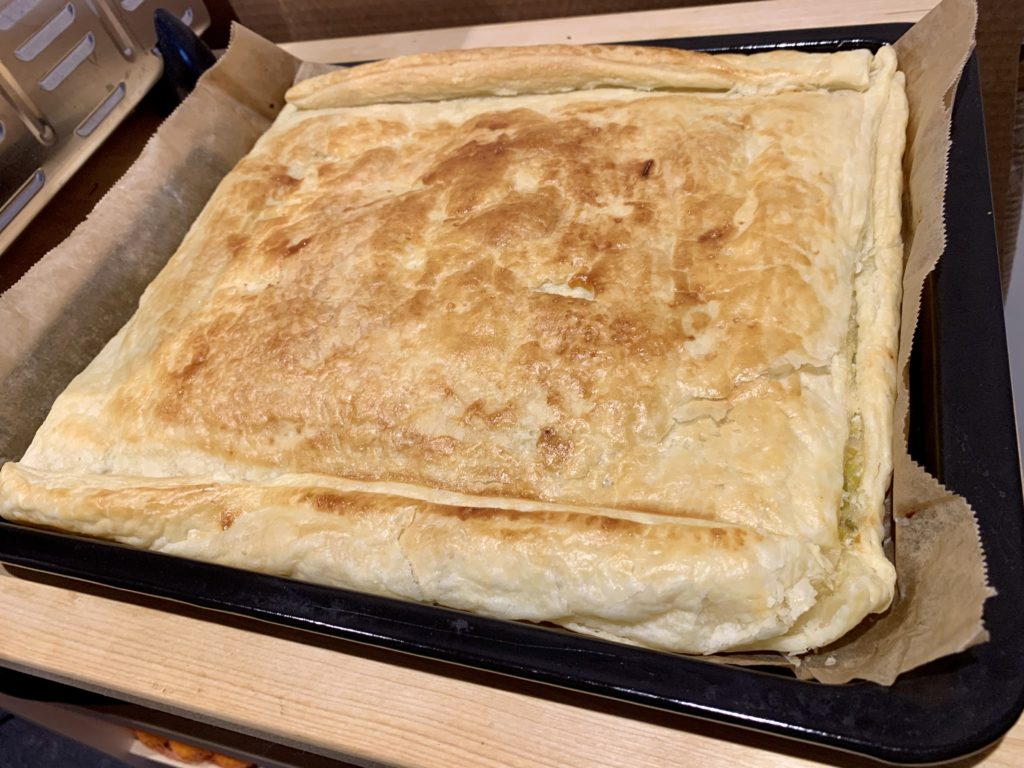 feta and leek pie